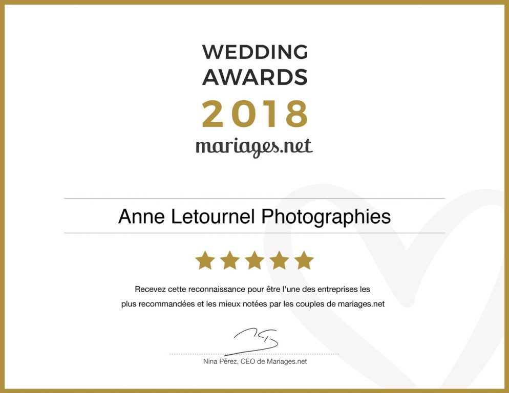 Wedding Awards 2018 Anne Letournel Photographe