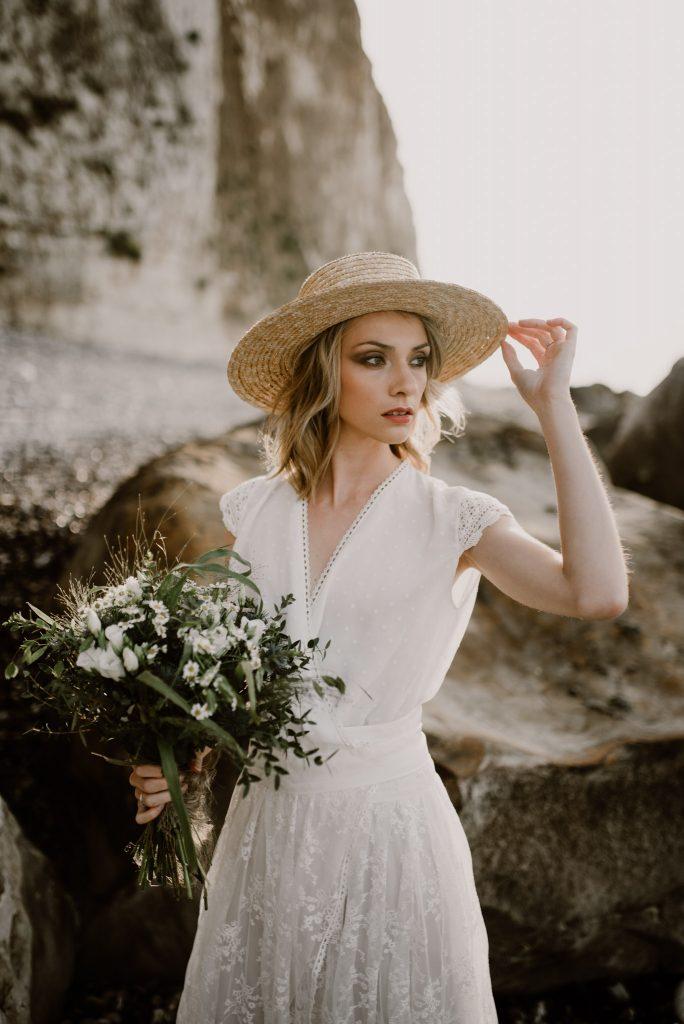 Mariée plage normande