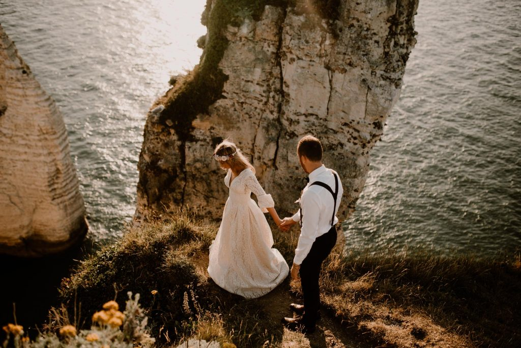 mariage à Etretat