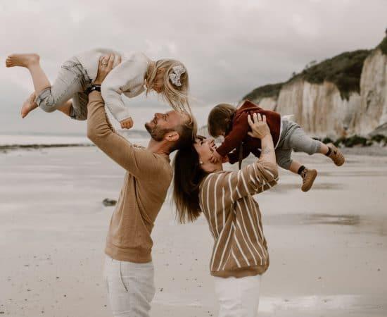 séance famille plage normandie
