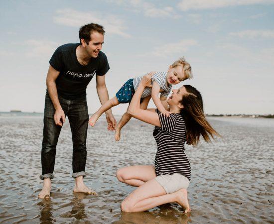 photographe séance famille plage dieppe